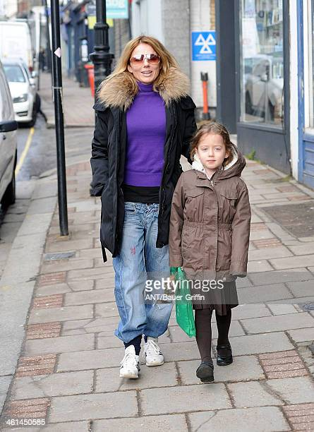Geri Halliwell is seen with her daughter Bluebell Madonna Halliwell on March 18 2013 in London United Kingdom