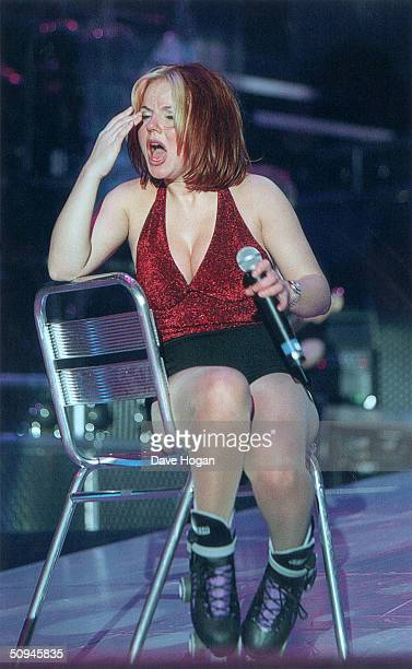 Geri Halliwell of the Spice Girls bursts into tears on stage during their world tour in 1998 It is later revealed that she had made the decision to...