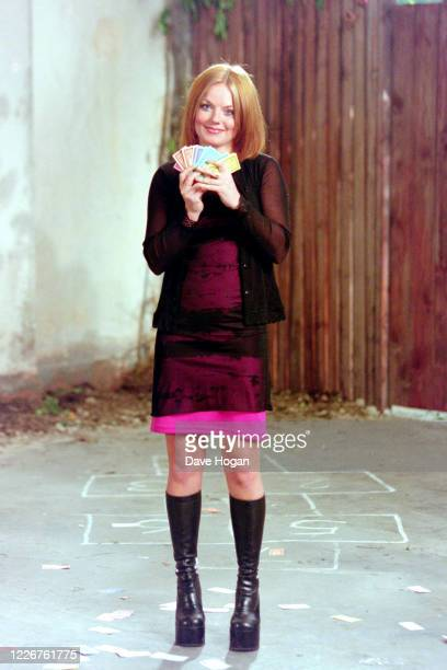 "Geri Halliwell of The Spice Girls record the video for the single "" On Top of the World"", England's official song for the 1998 Fifa World Cup,..."