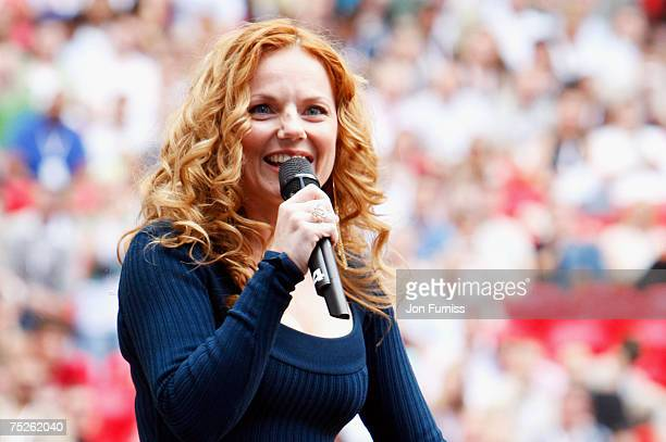Geri Halliwell onstage during the Live Earth concert held at Wembley Stadium on July 7 2007 in London Live Earth is a 24hour 7continent concert...