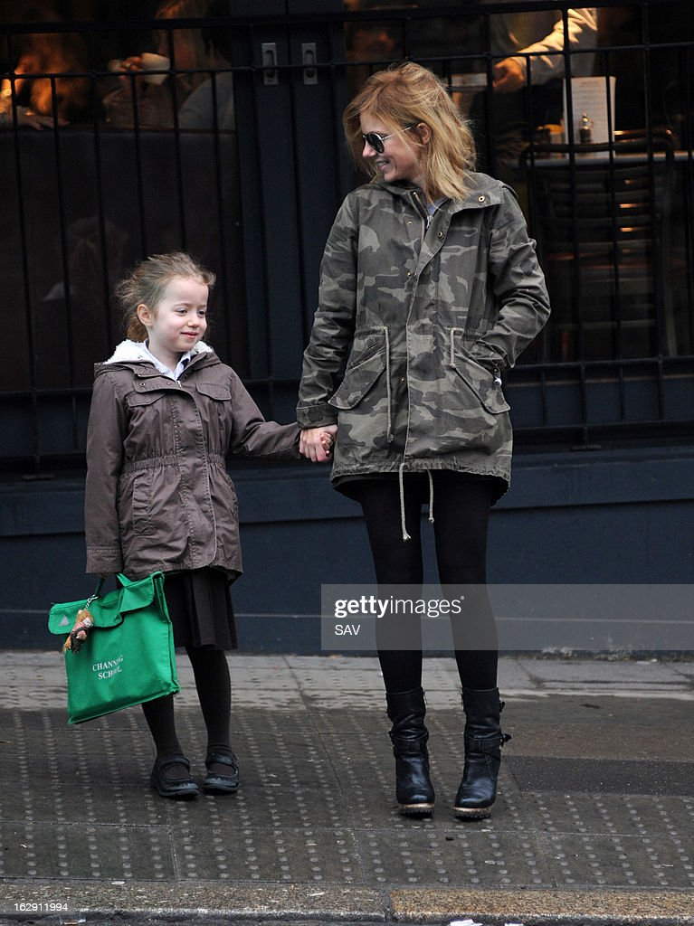 Geri Halliwell pictured on the school run on March 1, 2013 in London, England.