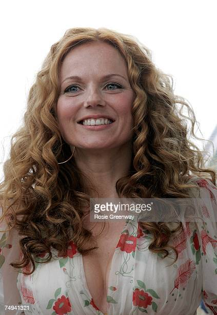 Geri Halliwell poses for a photocall at the Royal Observatory Greenwich ahead of a Spice Girls news conference later today on June 28 2007 in London...