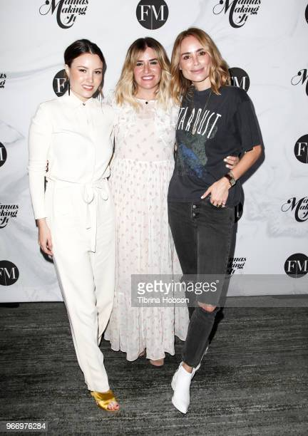 Geri Hirsch Alli Webb and Anine Bing attend the 2018 Mamas Making It Summit at The Line Hotel on June 3 2018 in Los Angeles California