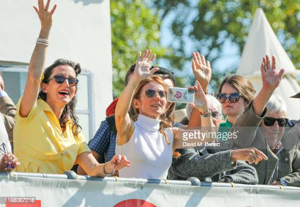 Geri Horner and Bernie Ecclestone attend day two of the Goodwood Revival 2019 at Goodwood on September 14 2019 in Chichester England