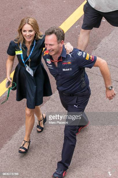 Geri Horner and Christian Horner are seen during the Monaco Formula One Grand Prix at Circuit de Monaco on May 27 2018 in MonteCarlo Monaco