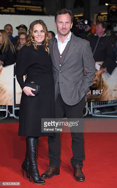 Geri Horner and Christian Horner attend the World Premiere of 'I Am Bolt' at Odeon Leicester Square on November 28 2016 in London England