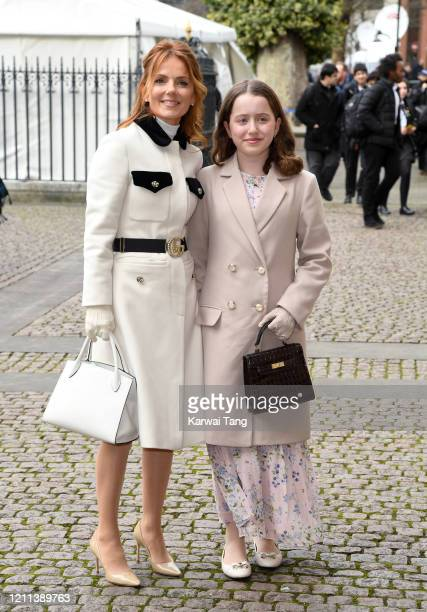 Geri Horner and daughter Bluebell Halliwell attend the Commonwealth Day Service 2020 at Westminster Abbey on March 09 2020 in London England