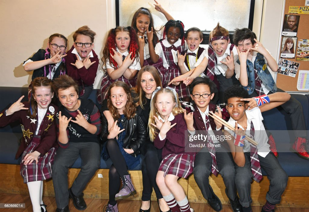 """Geri Horner Visits The West End Production Of """"School Of Rock: The Musical"""" : News Photo"""