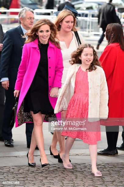 Geri Horner and daugther Bluebell Halliwell attend the annual Commonwealth Day service and reception during Commonwealth day celebrations on March 13...