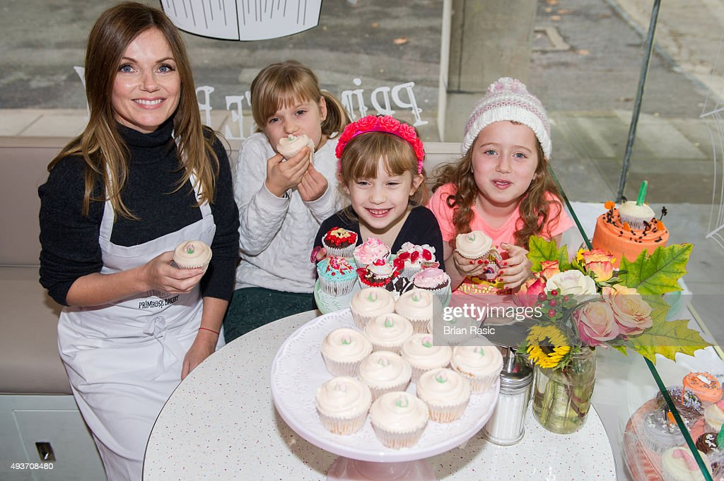 Geri Horner And Daughter Bluebell Surprise Customers At Primrose Hill Bakery : News Photo