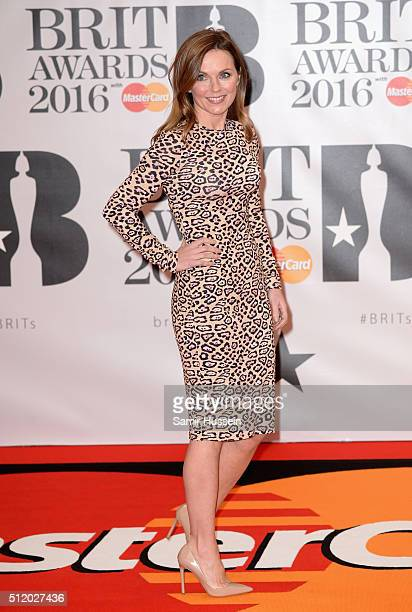 Geri Horner attends the BRIT Awards 2016 at The O2 Arena on February 24, 2016 in London, England.