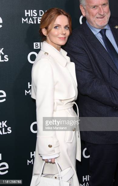 "Geri Horner attends the ""His Dark Materials"" premiere at BFI Southbank on October 15, 2019 in London, England."