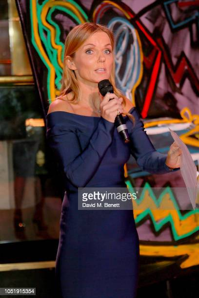 Geri Horner attends the International Day of the Girl Child Charity Event At The Original Annabel's hosted by The Bardou Foundation at Annabel's on...