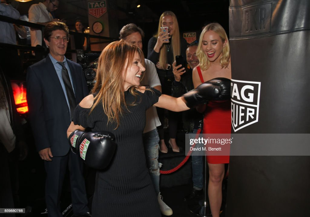 Geri Horner attends the launch of the TAG Heuer Muhammad Ali Limited Edition Timepieces at BXR Gym on October 10, 2017 in London, England.