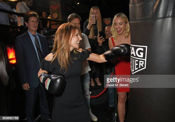 Geri Horner attends the launch of the TAG Heuer Muhammad Ali Limited Edition Timepieces at BXR Gym on October 10 2017 in London England