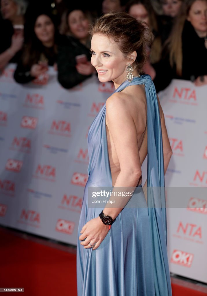 Geri Horner attends the National Television Awards 2018 at the O2 Arena on January 23, 2018 in London, England.