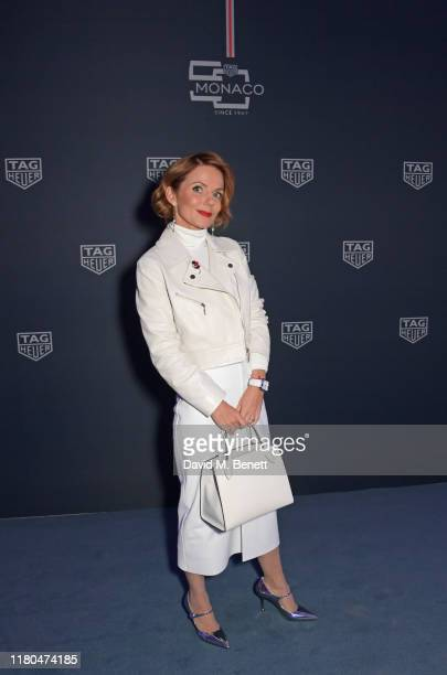 Geri Horner attends the star-studded celebration of the 50th anniversary of the iconic TAG Heuer Monaco, featuring the launch of two new special...