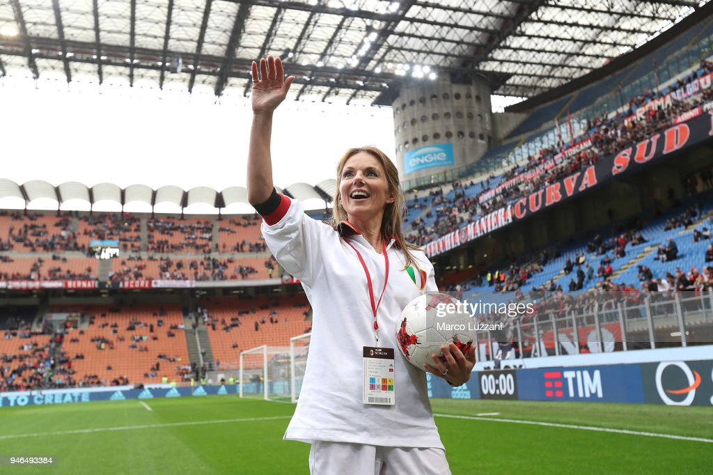 Geri Horner before the serie A match between AC Milan and SSC Napoli at Stadio Giuseppe Meazza on April 15, 2018 in Milan, Italy.