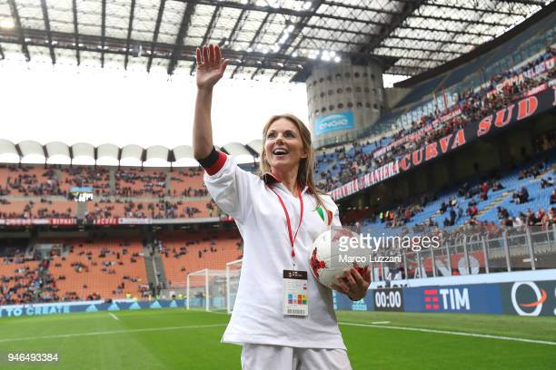 Geri Horner before the serie A match between AC Milan and SSC Napoli at Stadio Giuseppe Meazza on April 15 2018 in Milan Italy