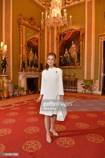 Geri Horner during a reception for winners of the Queen's Commonwealth essay competition 2019 at Buckingham Palace on October 31 2019 in London...