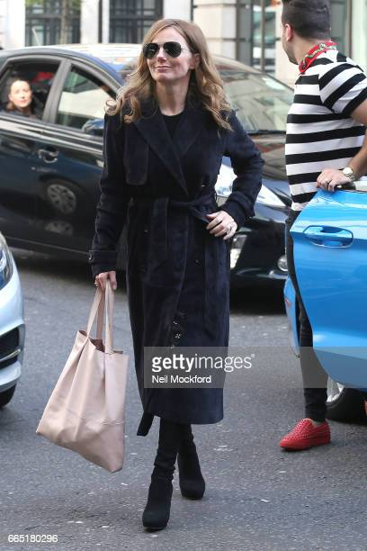 Geri Horner seen arriving at BBC Studios for a meeting on April 6 2017 in London England