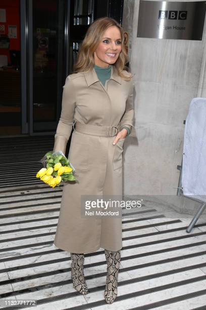 Geri Horner seen at BBC Radio 2 on February 28 2019 in London England
