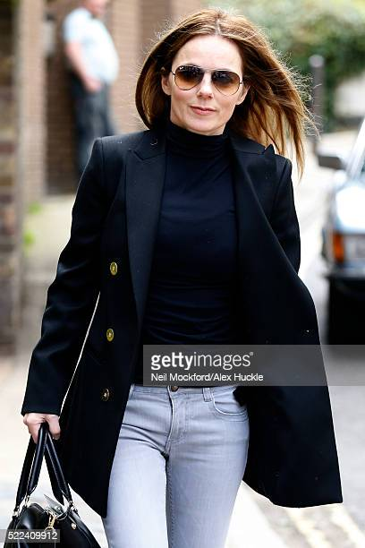 Geri Horner seen in Hampstead on April 19 2016 in London England