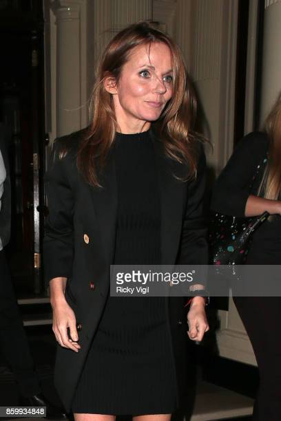 Geri Horner seen on a night out leaving The Connaught on October 10 2017 in London England