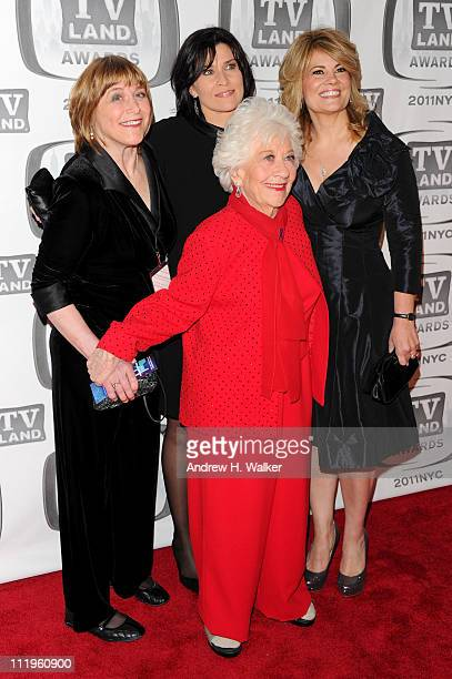 Geri Jewell Charlotte Rae Nancy McKeon and Lisa Whelchel attend the 9th Annual TV Land Awards at the Javits Center on April 10 2011 in New York City
