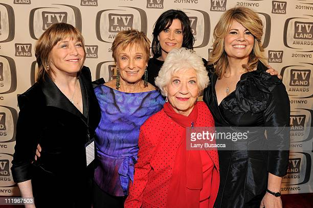 Geri Jewell. Cloris Leachman, Nancy McKeon, Charlotte Rae and Lisa Whelchel attend the 9th Annual TV Land Awards at the Javits Center on April 10,...