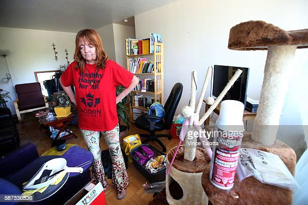 TORONTO ON JUNE 24 Geri Stevens tenant of 500 Dawes Road has had horrible experiences dealing with their landlord She poses in her apartment dealing...