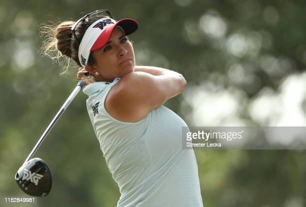 Gerina Piller hits a tee shot on the 12th hole during the second round of the US Women's Open Championship at the Country Club of Charleston on May...