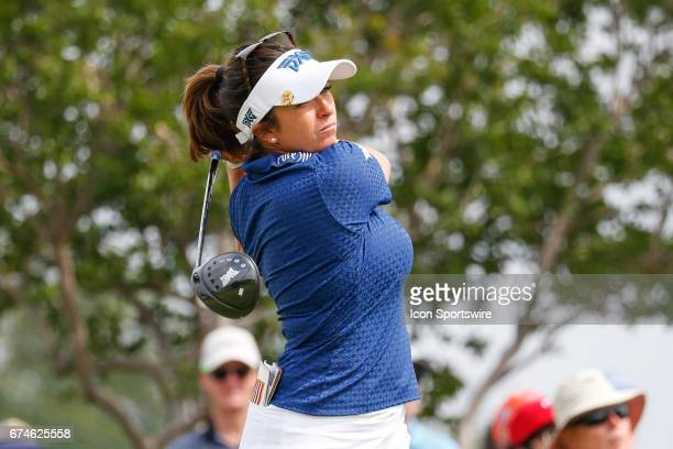 Gerina Piller hits her tee shot on during the second round of the LPGA Volunteers of America Texas Shootout on April 28 2017 at Las Colinas Country...