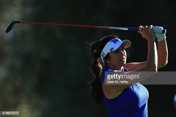 Gerina Piller makes a shot on the 7th hole during the 2016 ANA Inspiration Championship at the Mission Hills Country Club on April 1 2016 in Rancho...