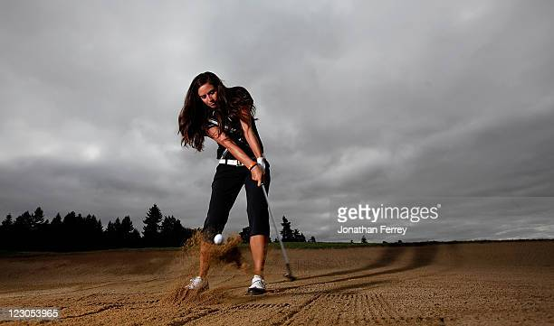 Gerina Piller poses for a portrait during the Safeway Classic at Pumpkin Ridge Golf Club on August 18 2011 in North Plains Oregon