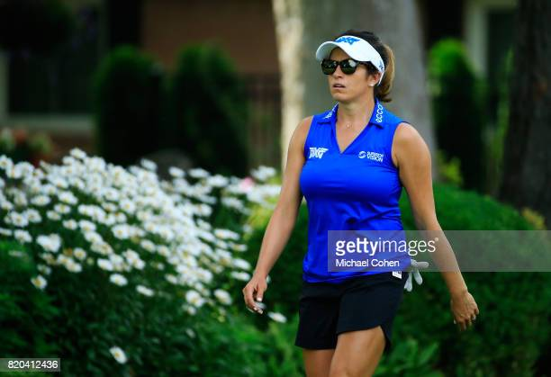 Gerina Piller walks to the fairway during the second round of the Marathon Classic Presented By Owens Corning And OI held at Highland Meadows Golf...