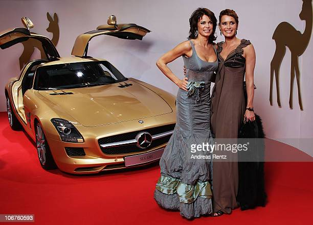 Gerit and Anja Kling arrive for the Bambi 2010 Award at Filmpark Babelsberg on November 11, 2010 in Potsdam, Germany.