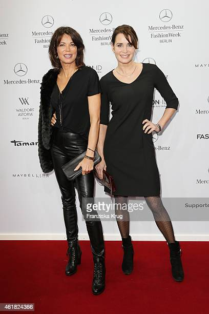 Gerit Kling and Anja Kling attend the Minx by Eva Lutz show during the MercedesBenz Fashion Week Berlin Autumn/Winter 2015/16 at Brandenburg Gate on...