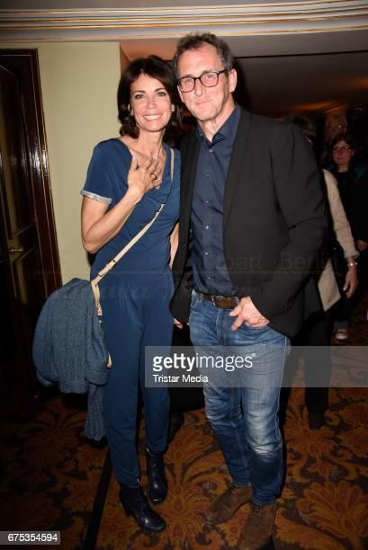 Gerit Kling and her husband Stefan Henning attend the 'Wir sind die Neuen' Premiere at Kudamm on April 30, 2017 in Berlin, Germany.