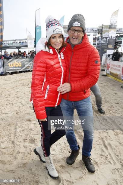 Gerit Kling and her husband Wolfram Becker during the 'Baltic Lights' charity event on March 10 2018 in Heringsdorf Germany The annual event hosted...