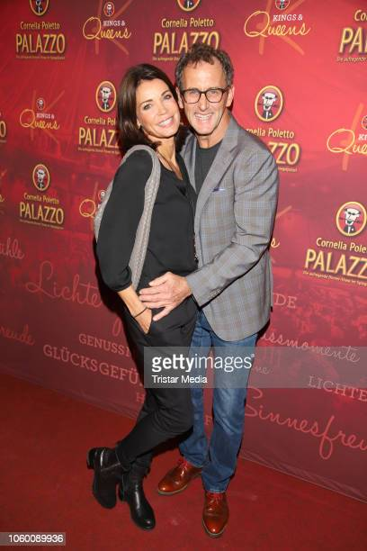 Gerit Kling and her husband Wolfram Becker during the Cornelia Poletto Palazzo Gala Premiere on November 10 2018 in Hamburg Germany