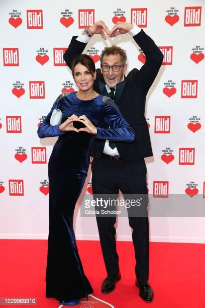 "Gerit Kling and her husband Wolfram Becker during the ""Ein Herz fuer Kinder"" Gala at Studio Berlin Adlershof on December 5, 2020 in Berlin, Germany."