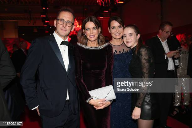 Gerit Kling and her husband Wolfram Becker her sister Anja Kling and their daughter Alea during the Ein Herz Fuer Kinder Gala at Studio Berlin...