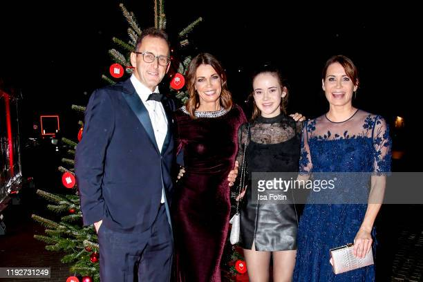 "Gerit Kling and her husband Wolfram Becker, her sister Anja Kling and their daughter Alea during the Daimlers ""BE A MOVER"" event at Ein Herz Fuer..."
