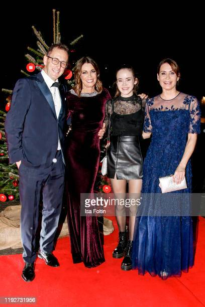 Gerit Kling and her husband Wolfram Becker her sister Anja Kling and their daughter Alea during the Daimlers BE A MOVER event at Ein Herz Fuer Kinder...