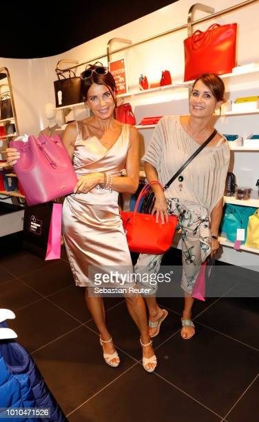 Gerit Kling and her sister Anja Kling at the Late Night Shopping at Designer Outlet Soltau on August 3, 2018 in Soltau, Germany.