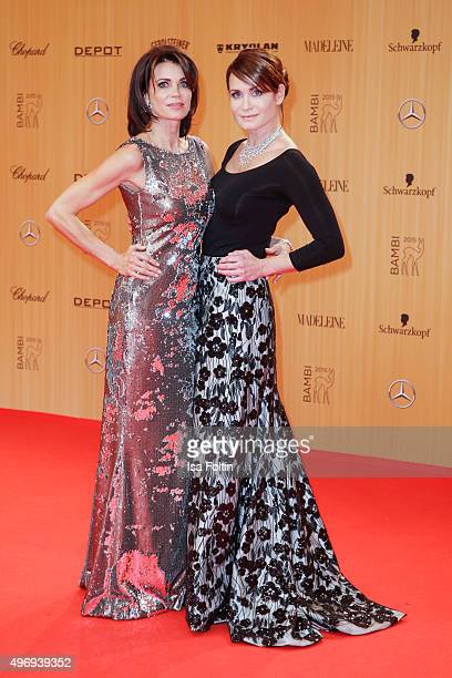 Gerit Kling and her sister Anja Kling attend the Kryolan At Bambi Awards 2015 - Red Carpet Arrivals on November 12, 2015 in Berlin, Germany.