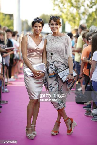 Gerit Kling and her sister Anja Kling attend the Late Night Shopping at Designer Outlet Soltau on August 3, 2018 in Soltau, Germany.