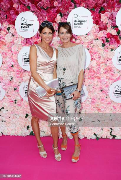 Gerit Kling and her sister Anja Kling attend the Late Night Shopping at Designer Outlet Soltau on August 3 2018 in Soltau Germany