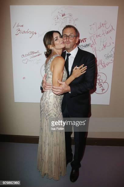 Gerit Kling and Wolfram Becker attend the Gloria - Deutscher Kosmetikpreis at Hilton Hotel on March 9, 2018 in Duesseldorf, Germany.